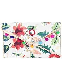 Rajasthani Jaipuri Bohemian Art Sling Bag Foldover Purse - B07FN15D81