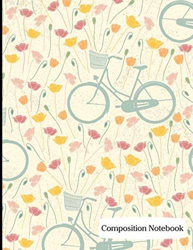 Composition Notebook: Bicycling on a Spring Day Composition Notebook - 8.5