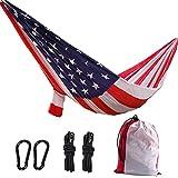 DIAOHXY Parachute Hängematte Amerikanische Flagge,Doppel Camping Hängematte Im Freien Wandern-A 300x200cm(118x79inch)