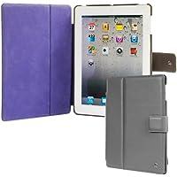 Issentiel Paris - Original Lederschutzhülle iPad 2/3/Retina - grau/mauve Portfolio Kollektion