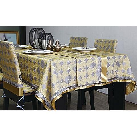 Tabella Bandiera Cerchio Giallo Jacquard Retro nappa Tavolino Bandiera panno Classic Cabinet Bandiere ( dimensioni : 32*180cm )