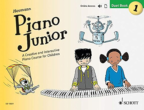 Piano Junior: Duet Book 1: A Creative and Interactive Piano Course for Children. Vol. 1. Klavier 4-händig. Ausgabe mit Online-Audiodatei. (Piano Junior - englische Ausgabe)