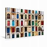Premium Textil-Leinwand 75 cm x 50 cm quer Bunte vorderen Türen zu den Häusern von Malta | Wandbild, Bild auf Keilrahmen, Fertigbild auf echter Leinwand, Leinwanddruck (CALVENDO Orte)