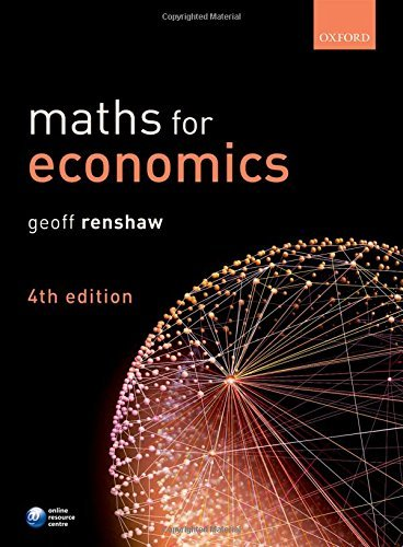 Maths for Economics by Geoff Renshaw (2016-03-03)