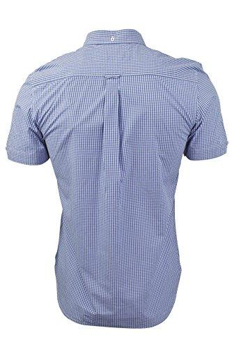 Herren kariertes Gingham Hemd von Tokyo Laundry kurzärmlig Ozean