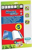 Elba - 400008903 - Magic Cover 5 Feuilles Couvre-Livres Prêtes à l'Emploi PVC A4 Incolore