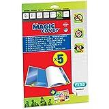 ELBA Magic Cover Pack de 5 Feuilles couvre-livres en PVC A4 Incolore
