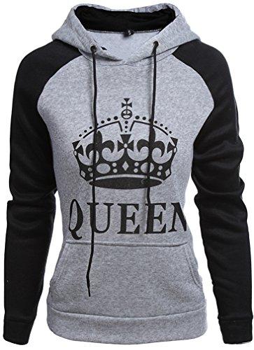 *Leslady Pärchen Kapuzenpullover Sweatshirts Outerwear Pullover Hoodie Sport King & Queen Krone Drucken Slim Fit Pulli Herbst*