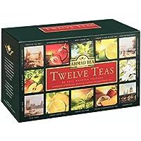 Ahmad Tea Twelves Teas (Pack of 1, Total 60 Enveloped Tea Bags)