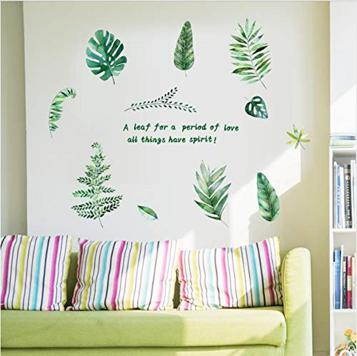 zpbzambm House A Leaf for A Period of Love All Things Have Spirit Banana Leaves Art Vinyl Mural Home Room Decor Wall Banana Leaf House