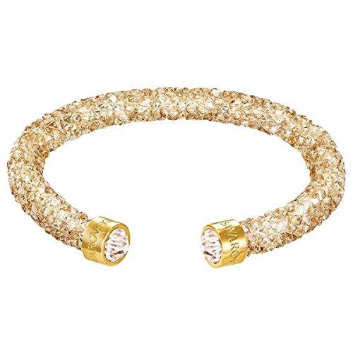 Swarovski Damen-Armreif teilvergoldet Kristall Gold 5.1 cm - 5255897