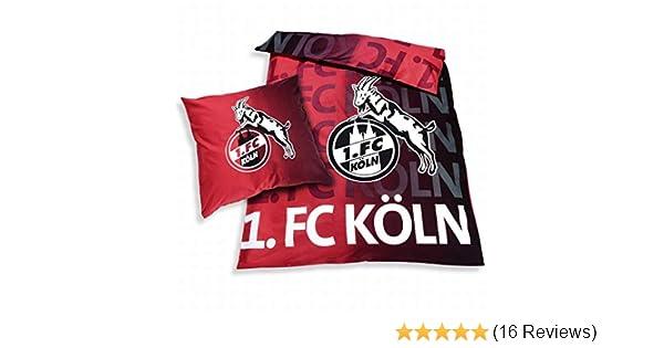 FC K/öln Bettw/äsche Rut un Wiess 135x200+80x80 1