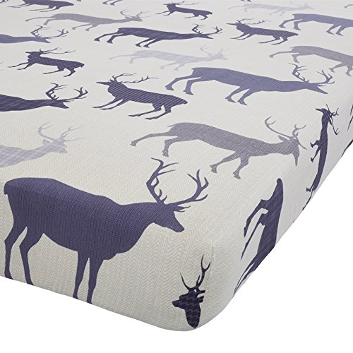 tartan-stag-navy-blue-100-brushed-cotton-double-fitted-sheet-naipmarg