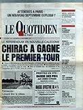 Telecharger Livres QUOTIDIEN DE PARIS LE No 2428 du 11 09 1987 ATTENTATS A PARIS LE REFERENDUM EN NOUVELLE CALEDONIE CHIRAC A GAGNE LE 1ER TOUR M AURILLAC BARRE LA RENTRE LIVRESQUE RENAULT LE STATUT POLYNESIE LES FOUS DE DIEU ASIE LES JAPONAIS DES JAPONAIS R F A HONECKER DANS SON VILLAGE NATAL PATRIMOINE LEOTARD LEVE LE RIDEAU (PDF,EPUB,MOBI) gratuits en Francaise