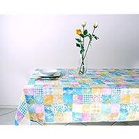 Tovaglia Cucina Rettangolare Loneta mis. in Policotone 140 x 240 cm colore Celeste