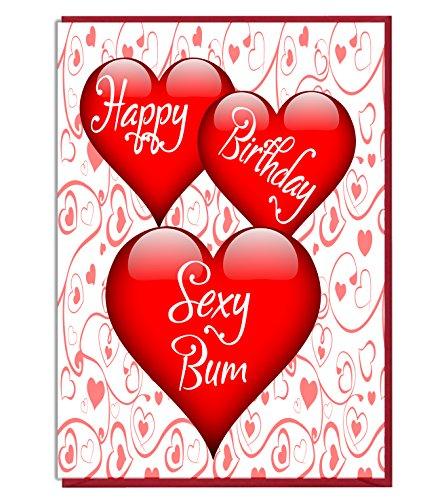 Karte-Happy Birthday Sexy Bum-- Partner-Frau-Mann-Freundin-Freund ()