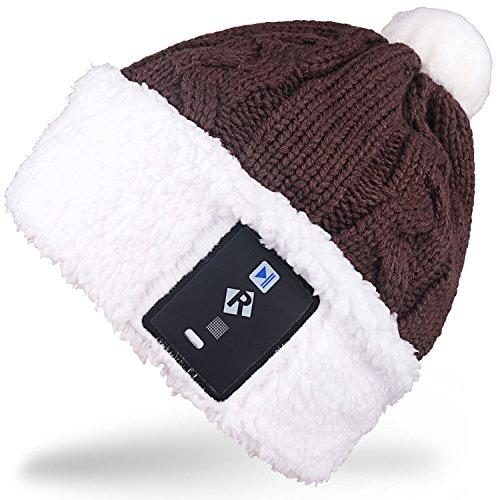 Rotibox Elegante lampadina a LED illuminazione cappello Beanie cappello a maglia Pom Pom Lampada a scintillio per i bambini Indoor e Outdoor, Festival, festività, feste, feste, bar, regali di Natale - Caffè