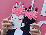 LG K10 2017 Shell, LG K10 2017 Black Unicorn Shell, SevenPanda Cartoon Silicone Star Cute Adorable 3D Eye Design Funny Shell Shockproof and Protective Soft Phone Cover for LG K10 2017 - Black Unicorn