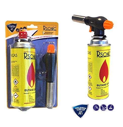 Rsonic Starter Set, Flammspritzpistole + 227g Gaskartusche Bunsenbrenner