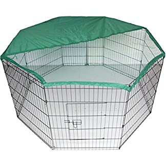Bunny / Rabbit / Guinea Pig / Dog / Puppy / Cat / Playpen Pen Enclosure Run Cage with Net Cover, 55-inch Bunny / Rabbit / Guinea Pig / Dog / Puppy / Cat / Playpen Pen Enclosure Run Cage with Net Cover, 55-inch 51gUnAa8hAL
