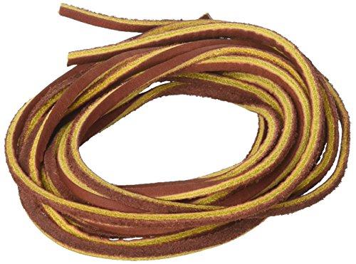 Mudder 3.5 mm Wohnung Echtes Leder Lederband Flach Braun Lederband Streifen Kabel Schnur,Braun