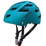 OutdoorMaster Multisport Helm für Jugendliche, Einstellbare Größe Fahrradhelm, Skateboard Helm mit Herausnehmbares Innenfutter- Rollhelm mit 21 Lüftungsöffnungen - M - Ozeangrün