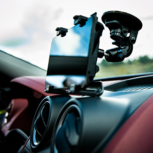 KFZ Halterung Tablethalterung Auto 360° Car Holder Halter für Samsung Galaxy Tab Active/Note, Amazon Fire/Kindle Fire, Microsoft Surface Pro 4, Tesco HUDL, iPad, IdeaTab, Yoga (fur 7-12 Zoll Tablet)