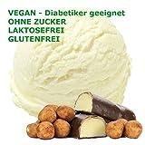 1 Kg Marzipan Geschmack Eispulver VEGAN - OHNE ZUCKER - LAKTOSEFREI - GLUTENFREI - FETTARM, auch für Diabetiker Milcheis Softeispulver Speiseeispulver Gino Gelati