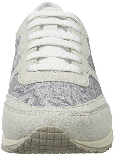Geox Damen D Wisdom D Sneakers Weiß (WHITE/OFF WHITEC1352)