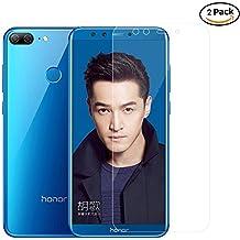 Pellicola Vetro Temperato per Huawei Honor 9 Lite, QULLOO 2 Pack Pellicola Protettiva 0,3mm HD Alta trasparente Protezione Schermo Trasparente ultra resistente Screen Protector
