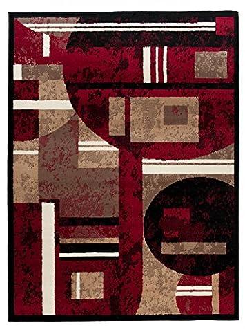 Tapis Conforama Rouge - Grande Tapis De Salon - Rouge Beige