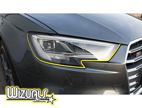 Preisvergleich Produktbild WIZUALS Augen Teufel Scheinwerfer + Mirror Stripes Set ,  6 Tlg. Set 4X Devilstripes Incl.2X Gratis Mirror Stripes,  In Gelb
