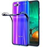 RANVOO Kompatibel mit Honor 10 Hülle, Transparent Silikon Handyhülle Durchsichtig Kratzfest Schutzhülle Slim Flexible TPU Chrome Bumper Cover Crystal Clear Case, 5.84'' (Phantom Blau)