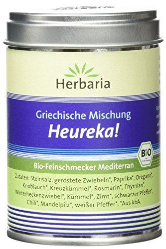 Herbaria Heureka Gyrosgewürz kbA* 80 g M-Dose, 1er Pack (1 x 80 g) - Bio (Bio-fleisch-gewürz)