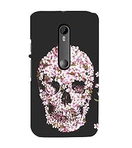 Flower Skull 3D Hard Polycarbonate Designer Back Case Cover for Motorola Moto G3 :: Motorola Moto G (3rd Gen) :: Motorola Moto G (Gen 3) :: Motorola Moto G Dual SIM (3rd Gen) :: Motorola Moto G3 Dual SIM