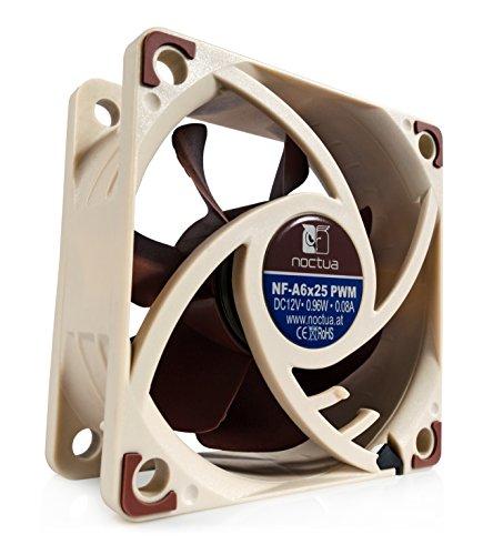 Noctua NF-A6x25 PWM Fan - Ventilador de PC (Ventilador, Beige, Marrón, 60...