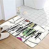 LYJZH Weiche rutschfeste Absorbierende Badezimmermatte Badematte Teppich Badteppich Fußmatte Fußmatte Pad saugfähigen rutschfesten Teppich nach Hause colour5 60 * 90cm