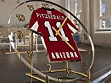 MyShirt123 NFL National Football League Schreibtisch-Uhr–NFC West American Football Trikot-Uhr–personalisierbar, Damen Herren Kinder, ARIZONA CARDINALS