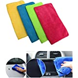 A2D Super Clean Series Micfrofiber Detailing, Polishing, Multipurpose Cleaning Clothes Assortted Colors-Set of 4