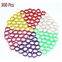 300 anillos para patas de aves de corral en 6colores, para pájaros, pollos, patos