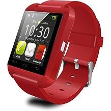 Technikware SmartWATCH Basic RS2 (Original) reloj Bluetooth Watch para Android y iOS* (Teléfono, SMS) [Compatible con todos los modelos Smartphone corrientes] rojo