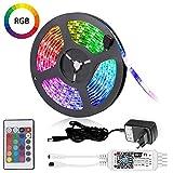 Magic LED WIfi Smart RGB Strip/Strip e Wlan Controller 16 milioni di colori compatibile con Alexa, Goolge Home 5 m 150 LED 5050 EU cavo di alimentazione impermeabile IP65, 20 modalità dinamiche