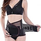 CFR-Faja Cinturón Adjustable para la Cintura Espalda Lumbar Protección para hombre y mujer Color Negro