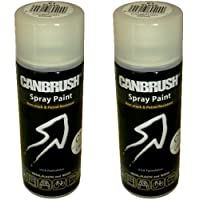 2 x CANBRUSH Spray Paint - For Metal Plastic & Wood 400ML Gloss Finish- Clear