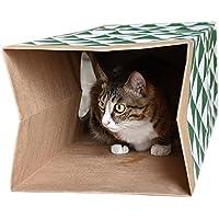 Somedays Juguete de túnel para gatos y gatos, suministros plegables para gatos, conejos, túnel de juguete con divertida bola para hacer ejercicio y jugar para gatito, conejos y perros pequeños
