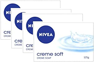 NIVEA Soap, Creme Soft, 125g (Pack of 4)