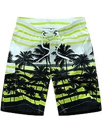 BOLAWOO Hombre Bañador Surf Playa De Verano Boardshorts Coconut Tree Print  Shorts De Secado Rápido Bañadores 71018866f86