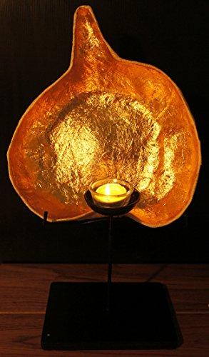 proudnature-esotico-set-di-scultura-bodhi-foglia-cancle-supporto-con-supporto-di-legno-in-cartapesta