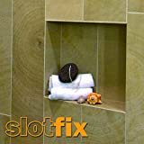 SLOTFIX | montagefertige Wandnische Duschnische Wandablage Stauraum universal für Trockenbau/Ständerwand/Massivwand Innenmaße 30x30x10cm