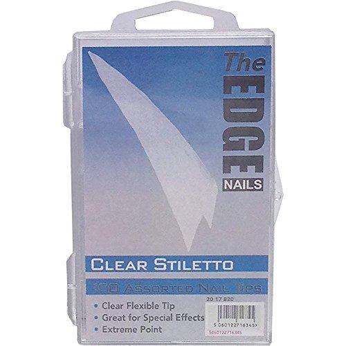 The Edge Lot de 100 tips fins pour ongles Transparent